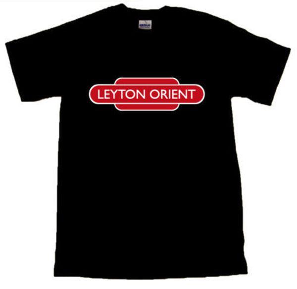 Leyton Orient Futbol Totem Demiryolu Işareti Siyah T-SHIRT # ARABA BOYUTLARıFunny ücretsiz kargo Unisex Rahat hediye
