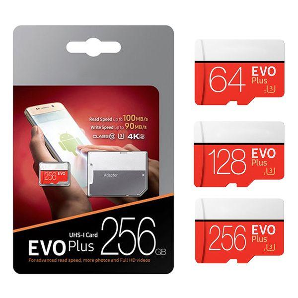 256 GB 128 GB 64 GB 32 GB Siyah VS Beyaz EVO ARTı EVO + Mikro SD TF Flash Kart 90 MB / s 80 MB / s Yüksek Hız Sınıfı 10
