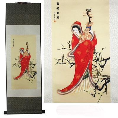Beautiful Chinese Painting Hanging Scroll Home Decoration Housewarming Gift
