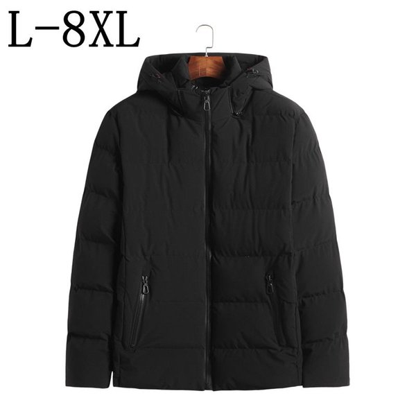 Plus Size 6XL 7XL 8XL 2018 New Arrival Winter Jacket Men Cotton Padded Thick Warm Hooded Mens Winter Coat Fashion Men Parka
