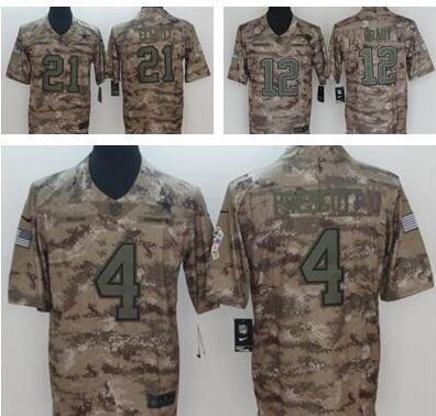 reputable site 70310 998a0 2019 Camo Salute To Service Limited Jersey 21 Ezekiel Elliott 4 Dak  Prescott Dallas Cowboys Football Shirts 11 Carson Wentz Philadelphia Eagles  From ...