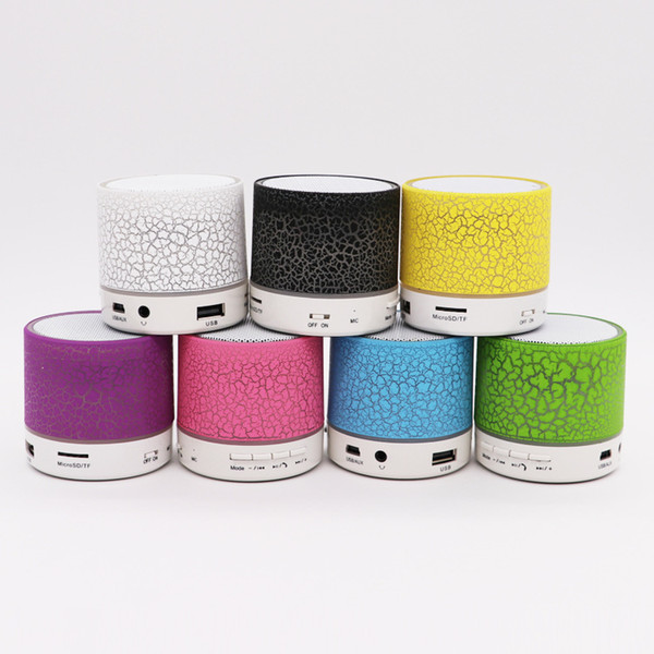 Coloré LED Haut-Parleur Bluetooth Mini Haut-parleurs Portable Subwoofer Support Radio FM Handfree AUX Port USB TF Carte Speake
