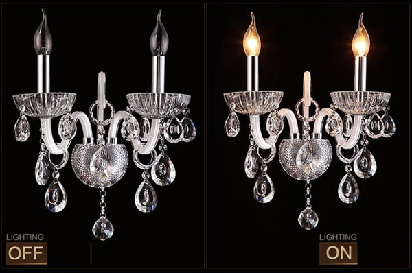 Wall Sconce Lighting European-style wall lights mirror front lamp bedside lamp crystal Wall lamp bedroom