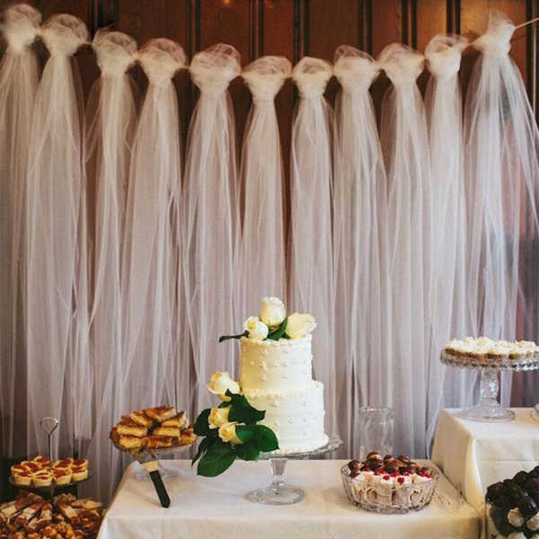 100 Yards Tulle Wedding Backdrop Wedding Decoration 15cm Tulle Roll Outdoor Ceremony Photography Birthday Party Decor