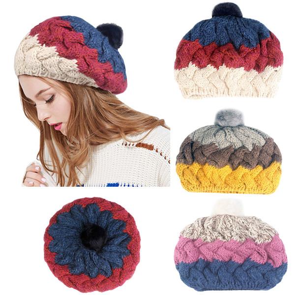 Compre Baggy Warm Crochet Invierno Lana Punto Esquí Beanie Cráneo ...