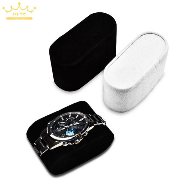 top popular Black White Suede Watch Cushions Watch Pillow for Case Storage Box Wrist Watch Bracelet Display Stand Holder Organizer 2021