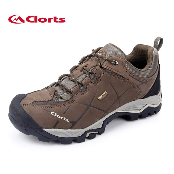 New Clorts Men Hiking Shoes Nubuck Climbing Shoes Waterproof Outdoor Genuine Leather Mountain Trekking Shoes Hkl 805A