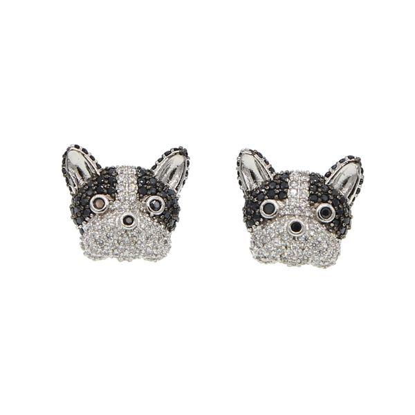 2018 New arrived Fashion Cute Little Pet Cartoon dog Stud Earrings for Women Lovely girls French Bulldog Earrings Puppy Fashion Jewelry