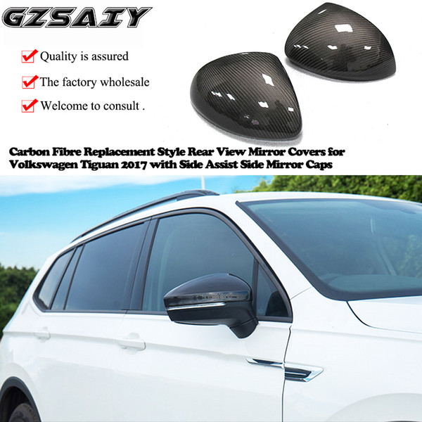 Car Mirror Replacement >> 2019 Carbon Fibre Replacement Style Rear View Mirror Covers For Volkswagen Tiguan 2017 With Side Assist Side Mirror Caps From Gzsaiyan 130 46