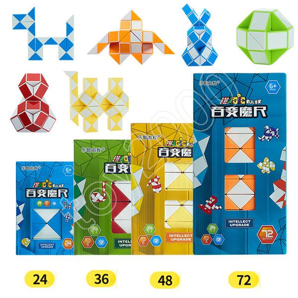 BestSeller Magic Cube Ruler Puzzle 3D Snake Shape Righello Toys Gioco Mini 3D Cube PuzzleToys Random Intelligence Twist per bambini Giocattoli Giochi