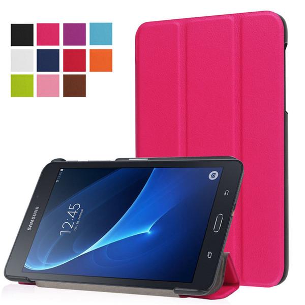 Custodia protettiva in pelle PU per Samsung Galaxy Tab A 7.0 T280 T281 T285 SM-T280 SM-T285 Custodia protettiva in pelle ultra sottile per PU Galaxy T-Tablet