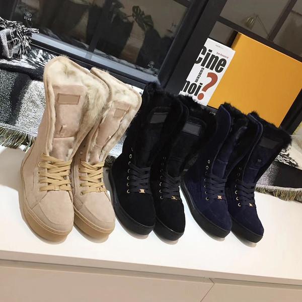 100% pelliccia di coniglio stivali donne in vera pelle scarpe firmate stivali da neve in pelle scamosciata donne inverno moda stivali al ginocchio di lusso 16 colori