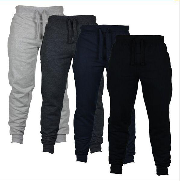 top popular Men's Casual Sweat Pants Jogger Harem Trousers Slacks Wear Drawstring Plus Size Solid Mens Joggers Pants Slim Fit Pants Men Sweatpants 2019