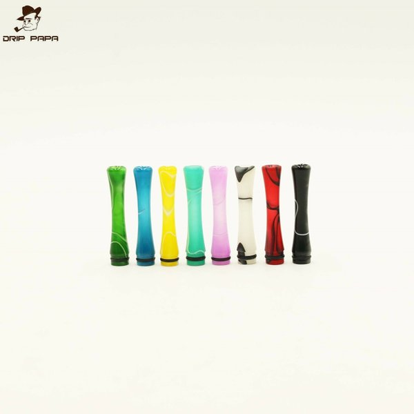 Foggyman Long arcylic Drip Tip Head Vape Mouthpiece For E Cigarette Atomizer 510 series DCT Vivi Nova Cartomizers