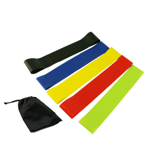 Exercise Resistance Loop Bands Set Fitness Workout and Strength Training 5 Pc Crossfit Yoga Resistance Bands Fitness Equipment Rubber Loop