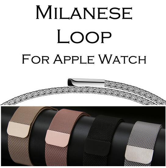 New sale Milanese Loop Band for Apple Watch 38/42mm Series 1/2/3 Stainless Steel Strap Belt Metal Wristwatch Bracelet Replacement