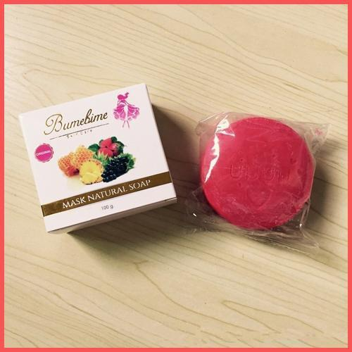 Bumebime Handmade Whitening Soap with Fruit Essential Natural Mask White Bright Oil Soap 100g DHL Free Shipping