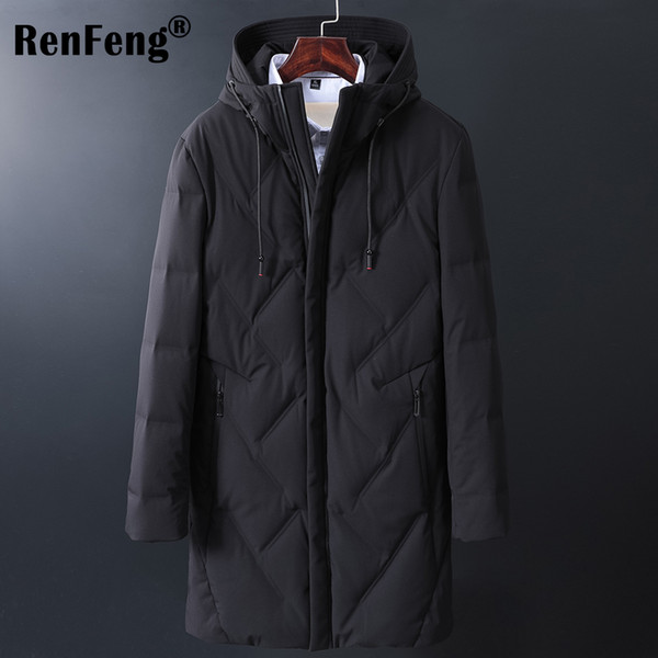 90% White Duck Down 2018 Top Quality Warm Men's Warm Winter Jacket Windproof Casual Outerwear Thick Medium Long Coat Men Parka