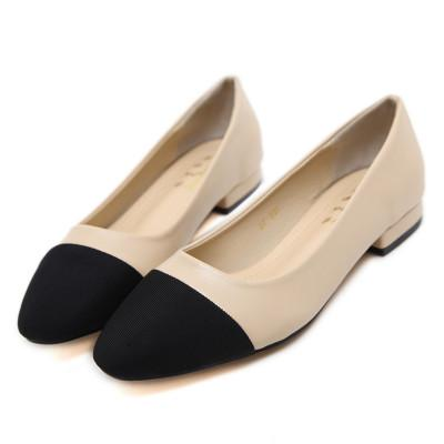 fashion luxcy nude + black color sexy new comfortable middle heel flat nude heel women fine heel lady wedding shoes