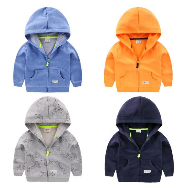 Yeni Gelenler Çocuklar Uzun Kollu Rüzgarlık Bahar Çocuk Erkek Kız Dış Giyim Giyim Için Kapşonlu Ceketler