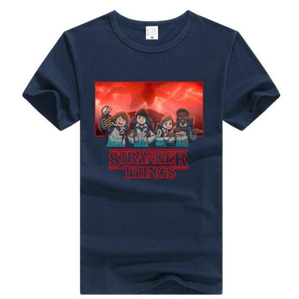 2018 Pamuk Erkekler Kadınlar Stranger Şeyler Tee Rahat Ince Unisex Tee Kısa Kollu Tişört Hip-Hop rahat moda T-shirt
