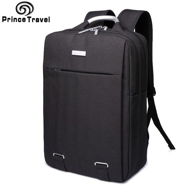 Prince Travel Oxford Backpacks capacity Men's Travel Backpack Quality 15 16 inch laptop backpack offical bag for Business Men