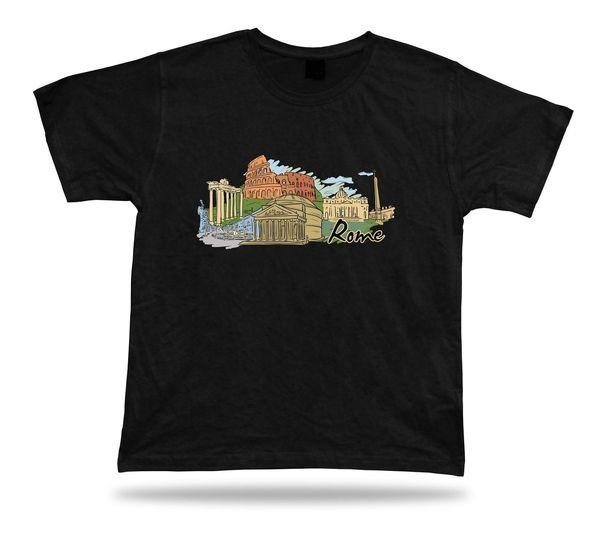 Roma Coliseo Roman Forum St Peter Basilica Pantheon Piazza Venezia camiseta regalo
