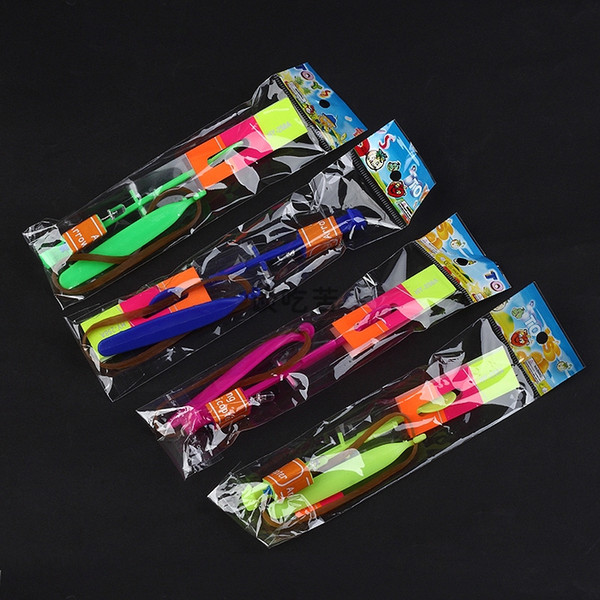 top popular HOT LED Magic Toy Rubber Band Helicopter Flash Arrows Flying Umbrella Flash Mushrooms 2000p Y91 2020