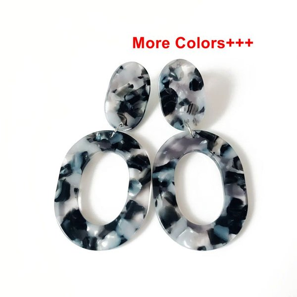 top popular Free Shipping New Design Geometric More Colors Mixed Fashion Trendy Pretty Elegant Popular Resin Material Earring 2019