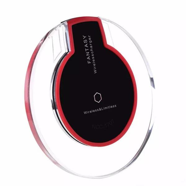 Универсальное беспроводное зарядное устройство Qi Зарядное устройство для мобильного телефона Адаптер док-станции Беспроводное зарядное устройство для iPhone X 8 Plus Samsung S8