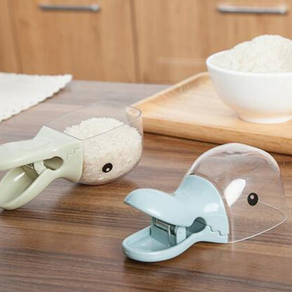 Duck Shape Plastic Shovel Handled Spoon Bag Clip  Bags Sealing Clip Rice Grains Mung Bean Scoop Kitchen Utensil Homeware