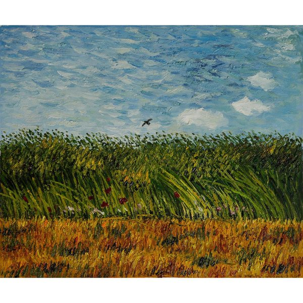 Famous painting by Vincent Van Gogh Edge of a Wheat Field with Poppies and a Lark artwork impressionist art Handmade Gift