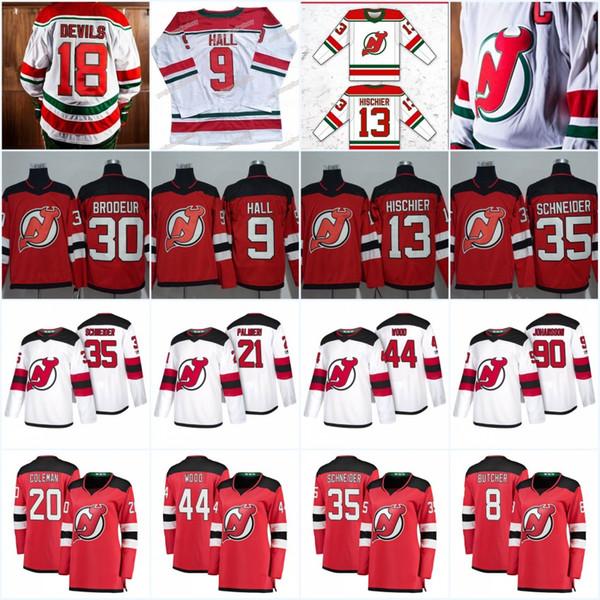 New Jersey Devils 13 Nico Hischier 2019 New Third Jersey 9 Taylor Hall 30 Martin Brodeur 35 Cory Schneider Miles Wood Kyle Palmieri