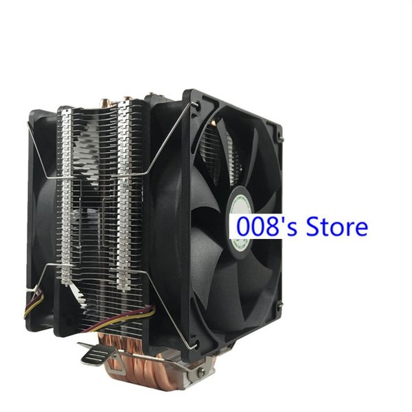 New Radiator CPU Cooler Cooling Fan For Intel 775 1151 1155 1156 1366 For AM4 AM3+ FM1 6 Heatpipes 12cm Led 4pin PWM By AVC