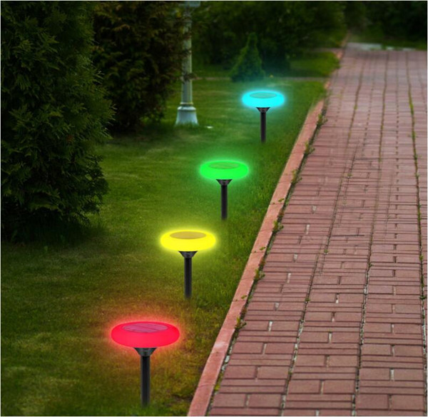 2019 Rgb Color Changing Solar Outdoor Lights Wireless 10 Led Solar Garden Light Waterproof Landscape Path Lights For Decoration Patio From Lily Lx