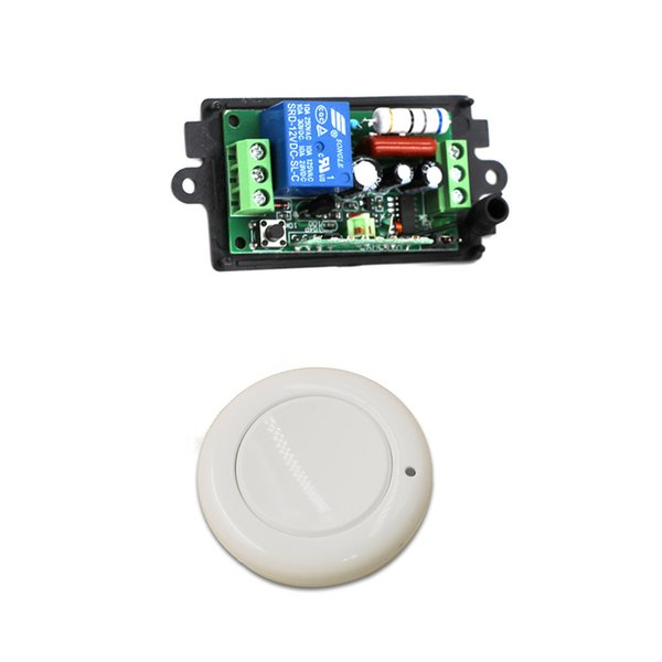 car New AC220V 110V 1CH Wireless Remote Control Light Switch Radio Receiver and Wall Round Transmitter 315/433mhz