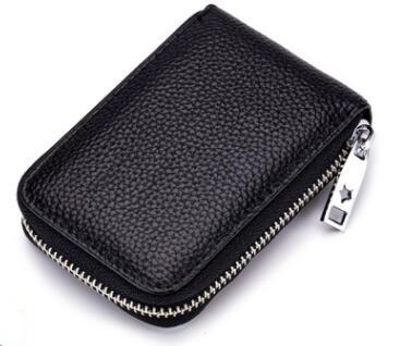 wholesale Genuine Leather Credit Card Holders Organ Female Card Holder Wallet Women Business Cardholder Organizer Men Purse