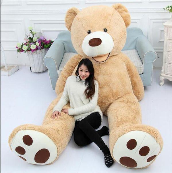 130cm Scafo dell'orso gigante Orsacchiotto americano Pelle di peluche Prezzo di fabbrica Peluche Migliori regali per ragazze