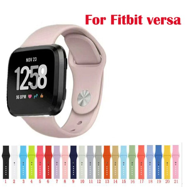 Manufacturer rubber Replacement bracelet for Fitbit versa sport Band silicone wristband