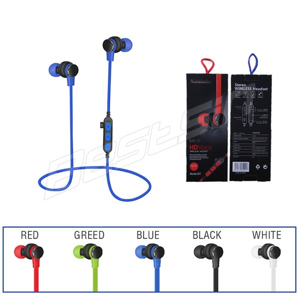 T1 Magnet TF Car Bluetooth Earphone Running Sport Wireless Headset Stereo Bass Noise Cancelling Earphone For Cell Phone