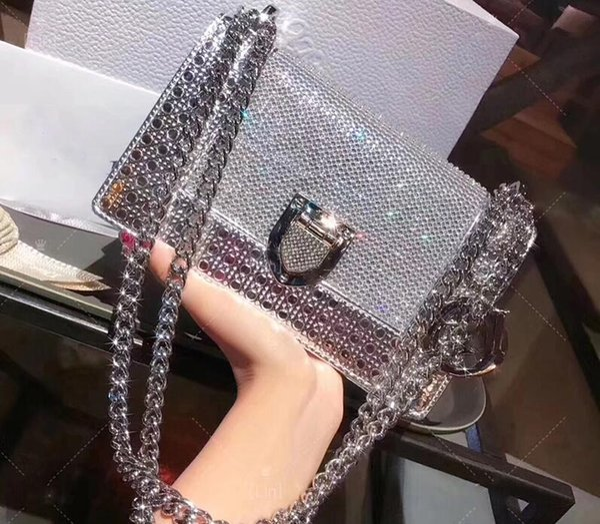 2017 women cla ic lady bag patent leather rama chain houlder bag luxury brand cro body bag diamond evening party bag handbag new