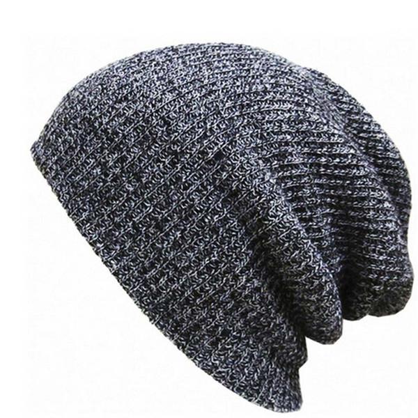 Women Men Hat Warm Ear Protection Crochet Solid Color Winter Knit Caps #4O03
