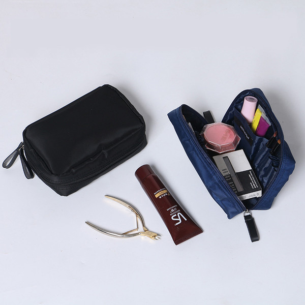 2018 Women Toiletry Cosmetic Bag Nylon Make Up Wash Bag Zipper Men Stuff Organizer Clutch Pouch Travel Cosmetic Cases
