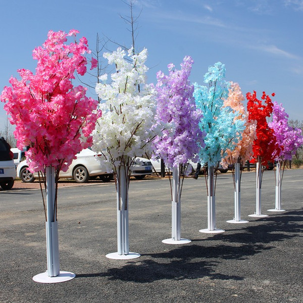 150CM Tall Upscale Artificial Cherry Blossom Tree Runner Aisle Column Road Leads For Wedding T Station Centerpieces Supplies