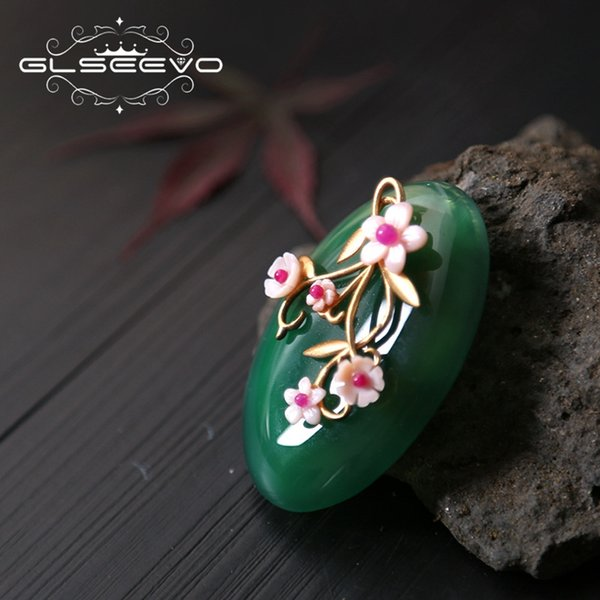 e1fd3c5e0 GLSEEVO Natural Mother Of Pearl Jade Brooch Pins Shell Flower Brooches For  Women Accessories Dual Use
