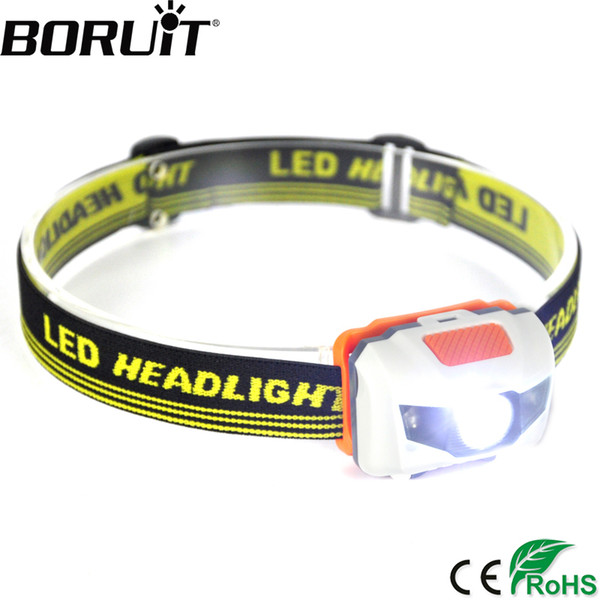 Boruit 300lm 3 Led Mini Headlamp 4 -Mode Waterproof Head Torch Super Bright Headlight Hunting Camping Frontal Lantern Aaa Battery