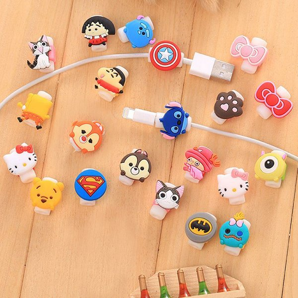 best selling Protective Case Cable Winder Cover Cartoon Cable Protector Data Line Cord Protector For iPhone USB Charging Cable