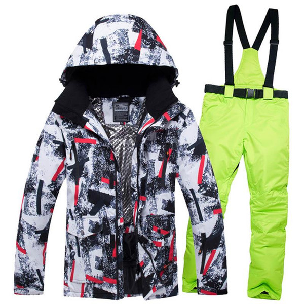 Cold Weather Winter Ski Clothes For Men -30 Degrees Thermal Snow Suits Male Singel Double Board Clothing Men's Snowboard Jackets