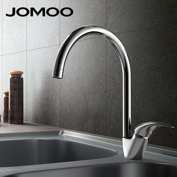 JOMOO Brass Kitchen Faucet Sink MixerTap Cold And Hot Water Kitchen Tap Single Hole Water Mixer torneira cozinha grifo cocina