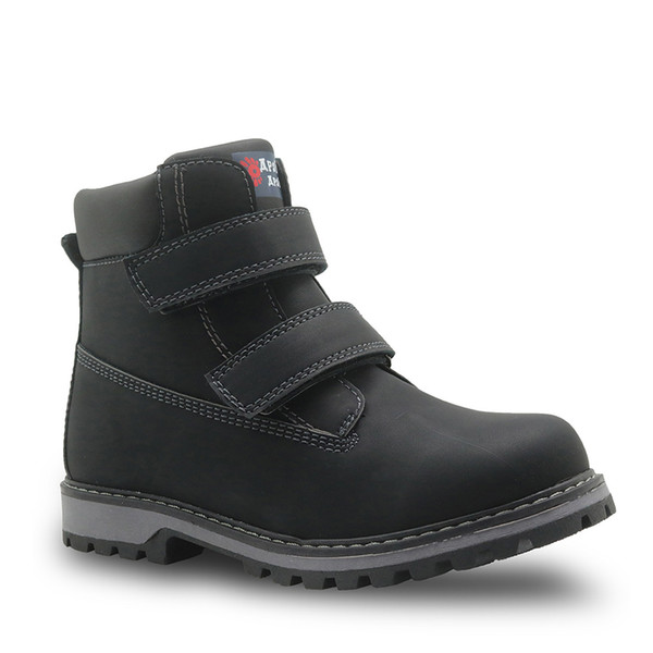 Winter Boys Boots Kids Woolen Plush Warm Snow Boots Boys Martin Boots Waterproof Winter Kids Shoes Rubber Sole